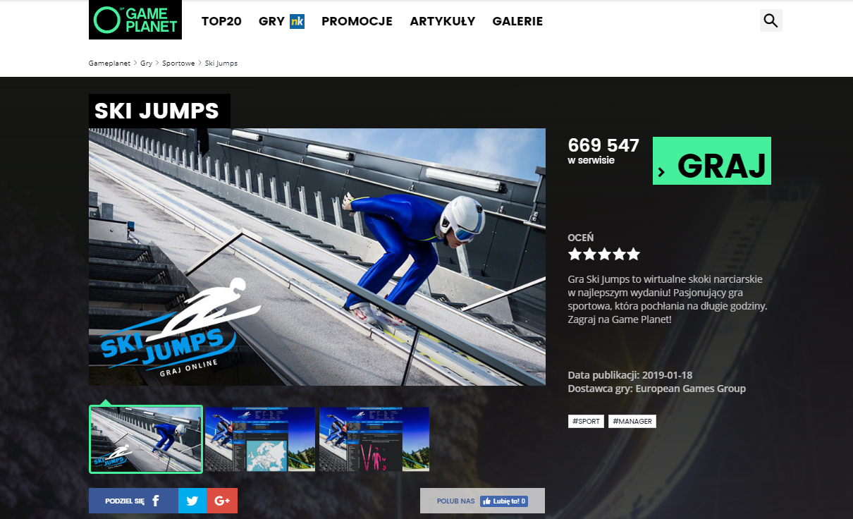 Ski Jumps gameplanet