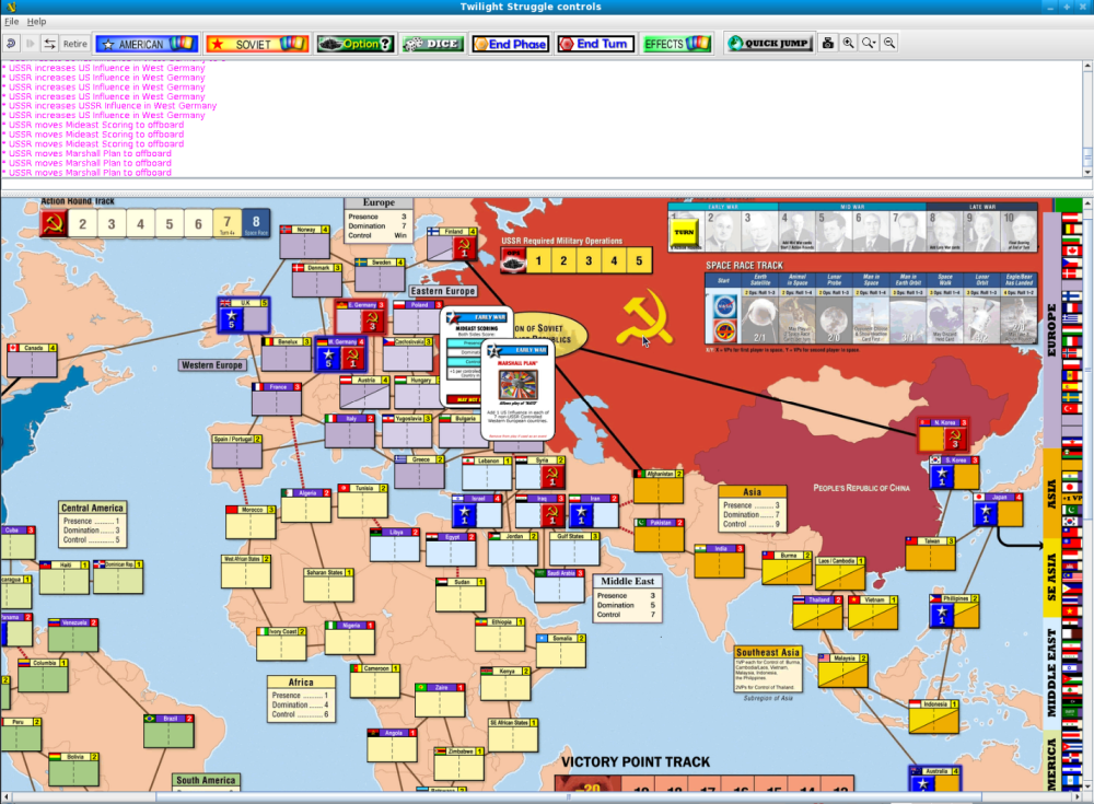 Vassal game engine for building and playing online